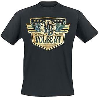shoppen sie volbeat retro sign t shirt schwarz xxl auf. Black Bedroom Furniture Sets. Home Design Ideas