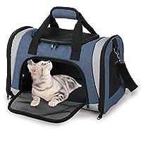 Mlec tech Bolsa de Transporte para Perro y Gato Plegable Respirable Malla Caja para el Transporte de Perro y Gato en avión Coche Tren 18.11x11.02x11.42in by