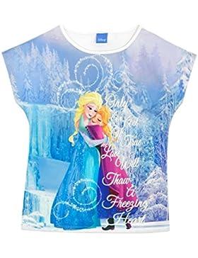 Disney Frozen - Il regno di ghiaccio Maglietta a Maniche Corte - Frozen Anna e Elsa - Ragazze