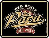 Original RAHMENLOS® Blechschild für den besten Papa der Welt
