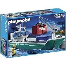 Playmobil - Buque de carga con grúa (5253)