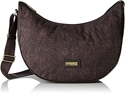 Borbonese 20d Flexos Gold Label, Borsa A Tracolla Donna Marrone