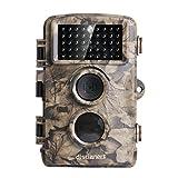 Distianert 12MP 720P Wildkamera Jagdkamera Infrarot No-Glow Nachtsicht 20m Wasserdichtes IP56 Design mit 44 St. 940nm IR-LEDs
