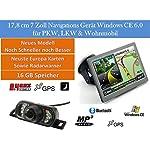 """17,8cm 7"""" Zoll ,16GB Speicher, PKW,LKW,Wohnmobil,GPS Navigationsgerät Navigation Funk Rückfahrkamera 7 LED´s, Erweiterbarer Speicher, Fahrspurassistent, Geschwindigkeitsanzeige,Neuste Karten sowie Radarwarner"""