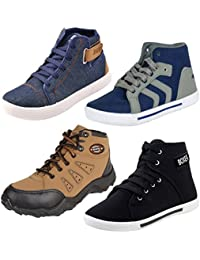 Earton Men Combo Pack of 4 Casual Sneaker Shoe