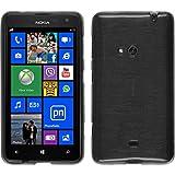 Funda de silicona para Nokia Lumia 625 - brushed plata - Cover PhoneNatic Cubierta + protector de...