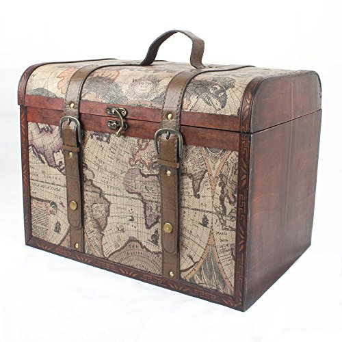 large-vintage-style-wooden-storage-trunk-chest-with-unique-map-design-gift-ideas-for-birthday-annive