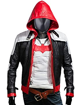 F&H Men's Jason Todd Arkham Knight Batman Hooded Jacket