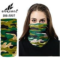 Durabol Pañuelos Bandana De Verano Cabeza,Bragas Cuello,Fular y Bufanda Multifuncionales Camuflaje Verde Militar para Hombre y Mujer-Incluye Cinturón