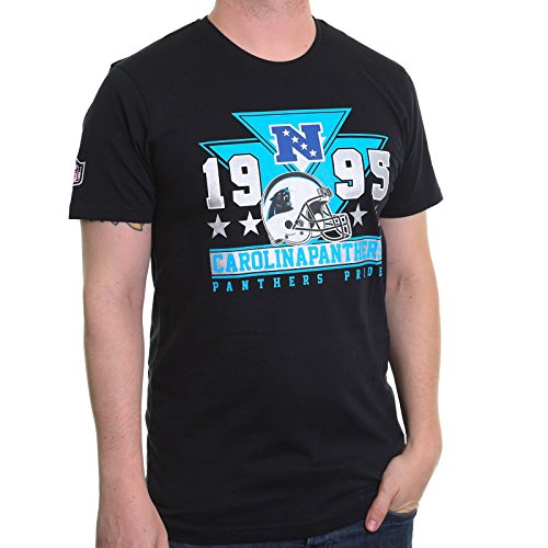 New Era Herren T-Shirt Nfl Triangle Tee Carolina Panthers Black