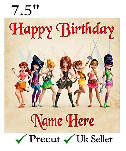 Tinkerbell Fairy inspiriert Essbarer Zuckerguss Kuchen Topper Piraten vorgeschnittenen–Personalisieren bei die (Überprüfen Sie Ihre Bestellung) Abschnitt