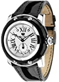 Glam Rock Unisex Quartz Watch With White Dial Analogue Display And Leather Strap 0.96.2099