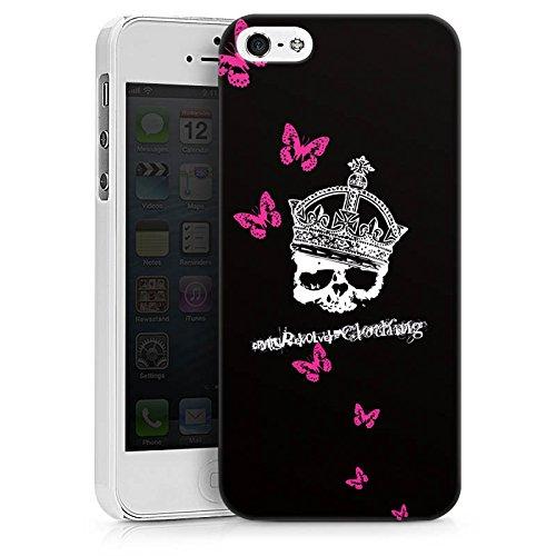 Apple iPhone X Silikon Hülle Case Schutzhülle Totenkopf Skull Krone Hard Case weiß