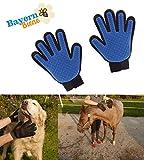 BAYERNBIENE Premium Handschuhbürste (2Stk) für Katzen, Hunde, Pferde zur Fellpflege, Massage, Haarentfernung, Fellbürste aus 100% Silikon Pet Brush Glove