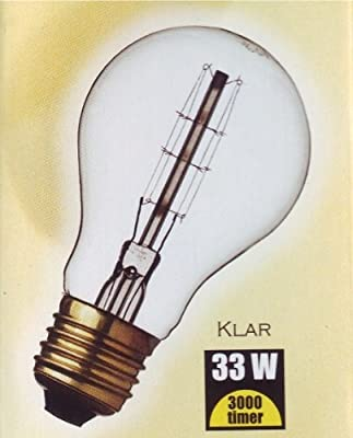 DANLAMP Schmucklampe / Glühlampe rustikal 33W / 240V / E27 / antik