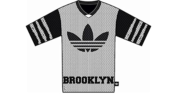 Adidas Originals Brooklyn Nets Oversize T Shirt WhiteBlack