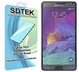 SDTEK pour Samsung Galaxy Note 4 Verre Trempé Protecteur d'écran Protection Résistant aux éraflures Glass Screen Protector Vitre Tempered