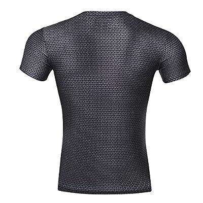 Cody Lundin® Herren kompression t - shirt, Men Fitness Bewegung Strumpfhosen Superhelden ,3D Superman Shirt