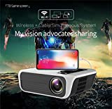 GOURCE T8 Home HD 1080P Smart Projector Mini Miniature Portable 3D Mobile Phone Projector Mobile Phone with The Same Version AU Plug