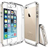 iPhone SE Hülle, Ringke FUSION kristallklarer PC TPU Dämpfer (Fall geschützt/ Schock Absorbtions-Technologie) für das Apple iPhone SE / 5S / 5 - Kristallklar