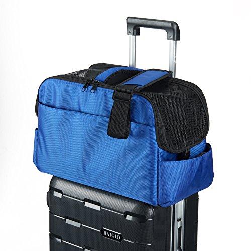 Fluggesellschaft Anerkannte Kabine Weiche Einseitige Haustier Reisewagen Autositz Gepäck Düffel Taschen (Blau) (Tote Schulter Überprüfen Sie)