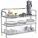 Home Creations Stainless Steel Wall Mount Utensils Rack, 30x12x26 Inches, Silver