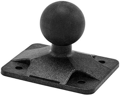 Arkon 4Loch AMPS auf 25mm Gummi Ball Adapter Für Robuste Mount Serie–SCHWARZ–apamps25mm