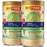 Saffola FITTIFY Gourmet Hi-Protein Slim Meal Shake - Pistachio Almond, 420 gm (Buy 1 Get 1 Free)