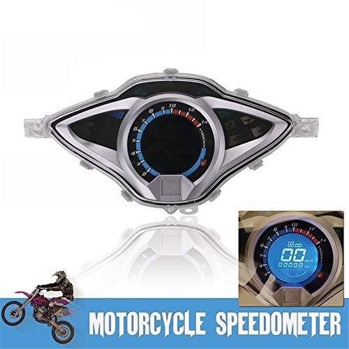 CHUDAN Motorräder Tacho Instrument Digital Tachometer Drehzahlmesser-Kraftstoffanzeige, Speed/RPM/Fuel/Trip/TIME/Temp Geeignet Für Die Meisten Motorräder Wie Kawasaki Yamaha Ducati BMW Honda Suzuki