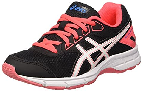 Asics Unisex Kids' Gel-Galaxy 9 Gs Sneakers, Multicolor (Onyx/White/Diva Pink), 3 UK