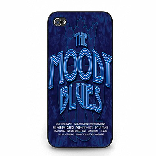 Iphone 5 5s Case Shell Unique Blue Printed Design Pop Jazz Band The Moody Blues Phone Case Cover for Iphone 5 5s Color094X