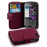 Cadorabo - Funda Blackberry Q10 Book Style de Cuero Sintético en Diseño Libro - Etui Case Cover Carcasa Caja Protección con Tarjetero en BURDEOS-VIOLETA