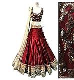 Muta Fashions Women's Lehenga Choli (LEHENGA60_01_Red_44)