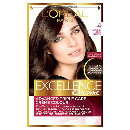 Triple Care Creme (3 x L'Oreal Paris Excellence Creme Triple Care Creme Colour 4 Natural Dark Brown)