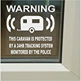 6 x Caravan Van Fake, Dummy Attrappe System Gerät, GPS-Ortungen, RV Warnung Aufkleber Alarm Sicherheit überwacht-Police Vinyl Zeichen