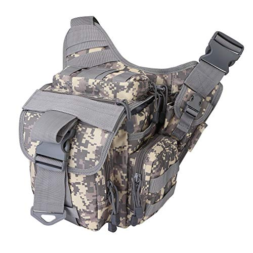 BEANBAO Aktueller Umhängetasche Sling-Pack Angelgerät Eine Umhängetasche Militärischer Multifunktions-Utility-Beutel Taille Gürteltasche im Freien (Color : Gray) -
