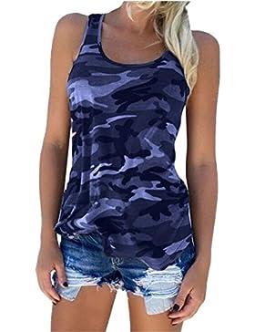 Guiran Mujer Camuflaje Camisetas Tirantes Sin Mangas Camisas Blusas Vintage T Shirt Tops Armada1 S