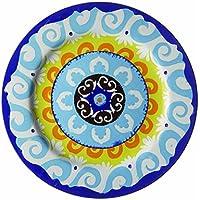 Nador juego de 6 platos llanos azul estilo mediterráneo!