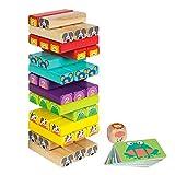 Woomax - Torre de madera 52 piezas + 24 cartas (ColorBaby 46251)