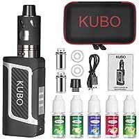 Preisvergleich für E Zigarette Shisha Starter Set und 5x10ml E liquid 80W Mod Kit mit 0.5 Ohm/ 3.0ml Verdampfer 2000mah Akku Starterset...