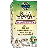 Garden of Life - Enzymes Bruts - pour Femmes âgées de 50 ans et plus - 90 capsules végétales