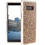 Schützen Sie Ihr Mobiltelefon Für Samsung Galaxy Note 8 Diamond Serie Galvanik PC TPU Schutzhülle für Samsung Handy (Farbe : Champagne Gold)