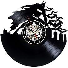 Reloj de pared de vinilo Batman Vintage tema colección regalo