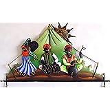 Karigaari India Wrought Iron Rajasthani Under Tent Wall Hanging (24 X 16 INCH)