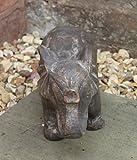 Home Hütte Garden Decor Elefant Bronze Effekt Indoor Outdoor Statue Tier Figur