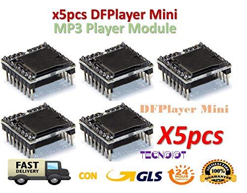 5 Stück DFPlayer Mini MP3 Player Module MP3 Voice Module TF Card und USB Disk Anschluss 5 Stück DFPlayer Mini MP3-Player Modul MP3 Sprachmodul TF-Karte und USB-Laufwerk -