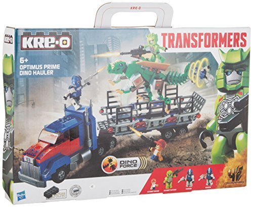 KRE-O Transformers Age of Extinction Optimus Prime Dino Hauler Set (A7796) by Hasbro