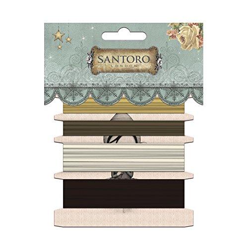 Rayher 58568000 Jute&Raffia Bänder Santoro London, je 1m, 3xRaffia,1xJute, SB-Btl - 568 Sb