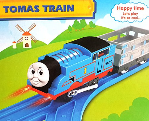 Battery Operated Thomas Toy Train Track Set With Sound And Flashing Lights