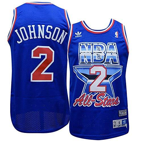 adidas Charlotte Hornets Larry Johnson 1993 All Star Game Soul Swingman Jersey (S)